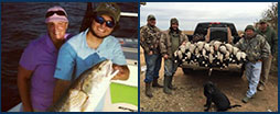 Venice Louisiana inshore fishing charters, West Texas waterfowl and dove hunts