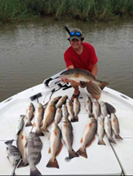 South Louisiana inshore fishing, Captain Orin Lonadier