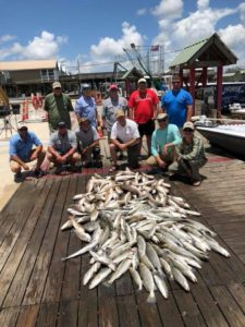 Large group, Venice Louisiana fishing, redfish, trout, sea to sky outfitters